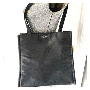 Vintage Kate Spade Black Nylon Zippered Tote Bag